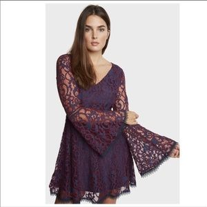 Willow & Clay Purple/Blue Lace Overlay Dress S